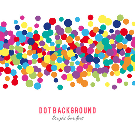 Ilustración de Colorful abstract dot background. illustration for bright design. Circle art round backdrop. Modern pattern decoration. Color texture holiday element wallpaper. Decor fun spot card. Happy mood. - Imagen libre de derechos