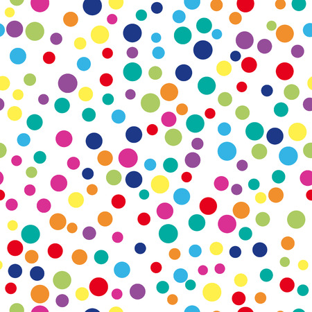 Photo pour Colorful abstract dot background. illustration for bright design. Circle art round backdrop. Seamless pattern decoration. Color texture holiday element wallpaper. Decor fun spot card Happy mood - image libre de droit