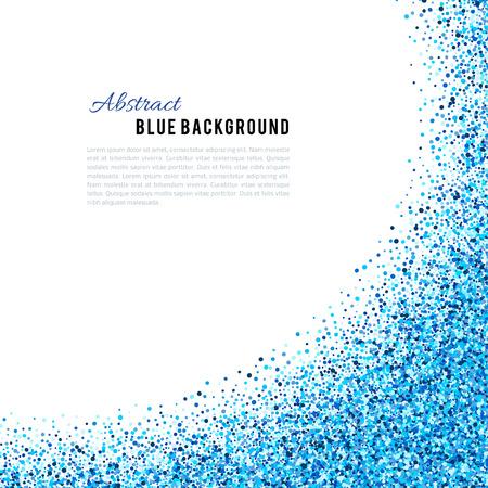 Ilustración de Abstract blue vector background. Bright navy indigo cyan glitter confetti. Cold frost winter snow dot spot - Imagen libre de derechos