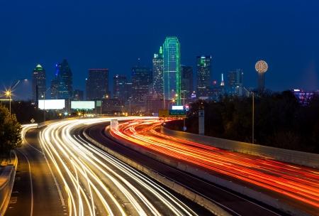 Dallas downtown at night