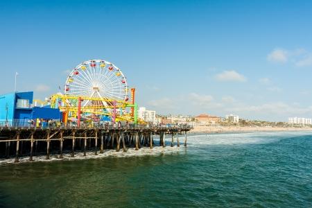 Santa Monica pier, CA in nice sunny day