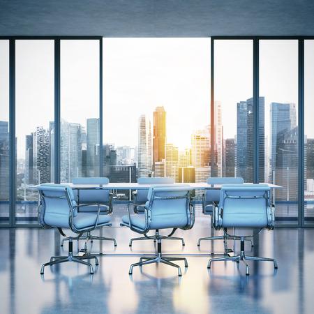 Photo pour White office interior. 3D rendering - image libre de droit