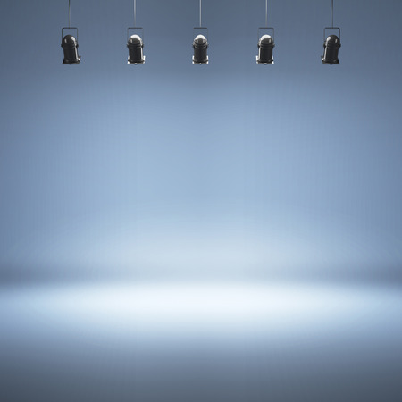 Photo for Blue studio background with spotlights - Royalty Free Image