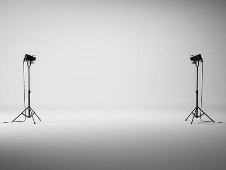 Photo pour Photo studio with equipment. 3D rendering - image libre de droit