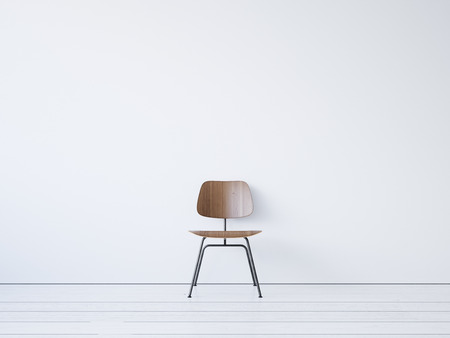 Photo for Vintage chair on the white background. 3d render - Royalty Free Image