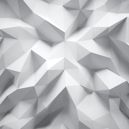 Foto de Photo of highly detailed multicolor polygon. White geometric rumpled triangular low poly style. Abstract gradient graphic background. Square. - Imagen libre de derechos