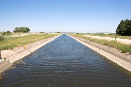 Irrigation channel in the Greek countryside