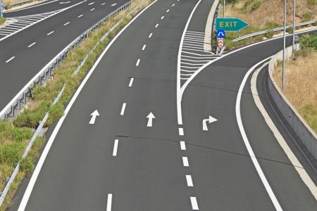 Photo for Interchange on egnatia motorway in Greece - Royalty Free Image