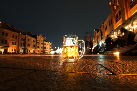 Beer of the image to drink outdoors
