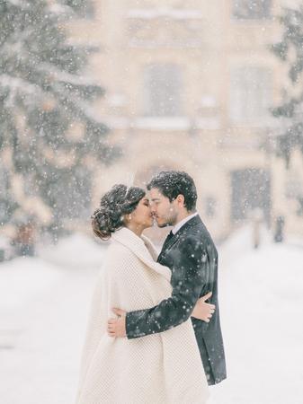 Photo pour winter wedding - image libre de droit