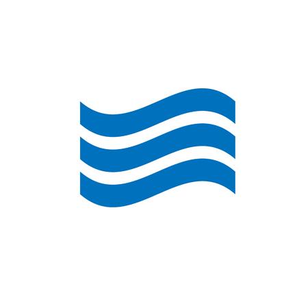 Illustration pour sound wave or a sea wave symbol flat vector icon on white background - image libre de droit