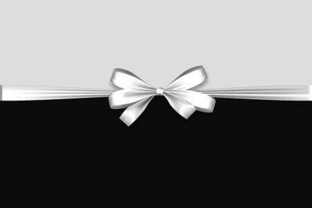 Illustration pour Holiday satin gift bow knot ribbon white - image libre de droit