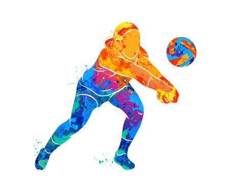 Foto für Abstract volleyball player - Lizenzfreies Bild