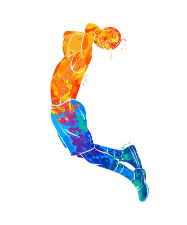 Illustration pour basketball player, ball - image libre de droit