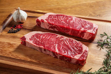 Photo for Wagyu steak with a sizzle feeling High-quality Japanese beef steak - Royalty Free Image