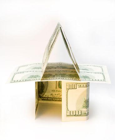 A house made of dollar bills