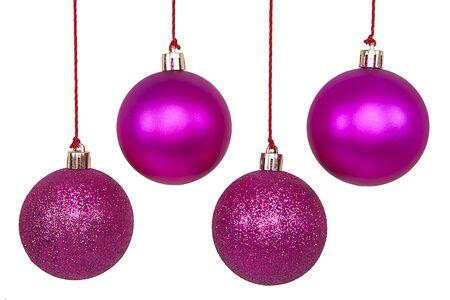 Photo pour Christmas Ornaments isolated on a white background. - image libre de droit