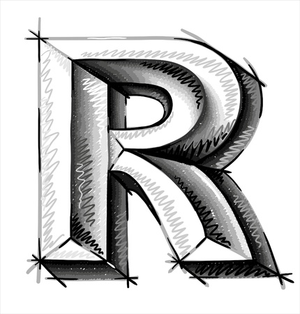 hand draw sketch letters