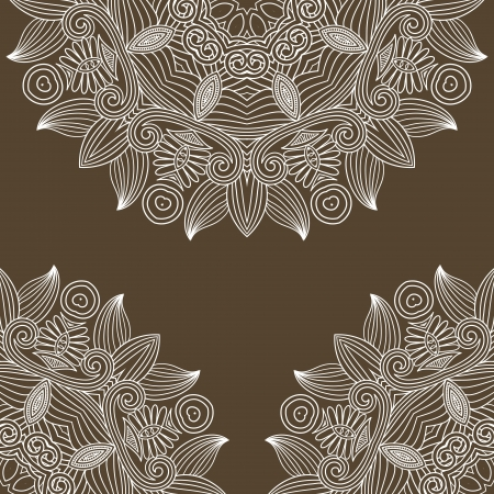 vintage floral ornamental background, circle flower element