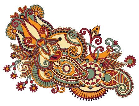 art ornate flower design. Ukrainian traditional style
