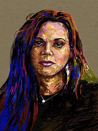 Original digital painting portrait of women  Vector illustration