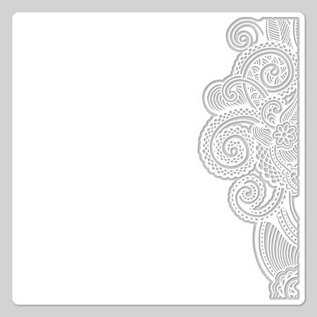 Photo pour abstract modern floral white paper cut design - image libre de droit