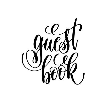 Illustration pour guest book hand lettering romantic quote - image libre de droit