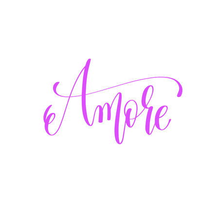 Amore hand lettering love quote to valentines day design