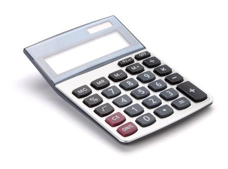 Large calculator. Isolated on white background