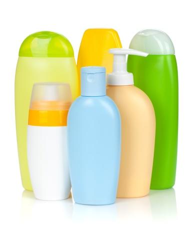 Bath bottles. Isolated on white background