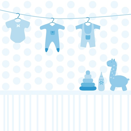 Baby various toys and clothing set