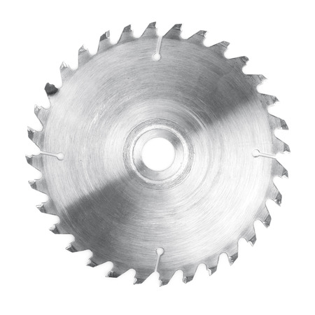 Circular saw blade. Isolated on white background