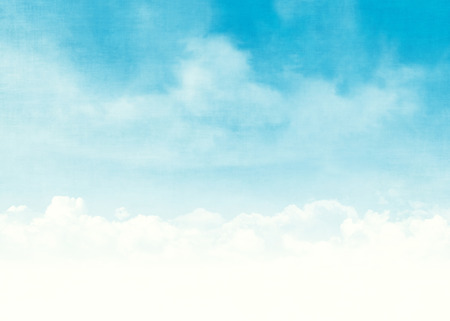 Blue sky and clouds abstract grunge background illustration with copy space