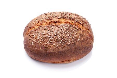 Foto für Homemade bread with seeds. Isolated on white background - Lizenzfreies Bild