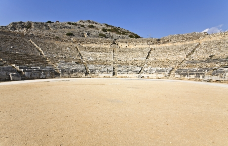 Theater at Filipois archaeological site in Greece