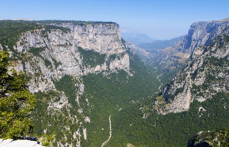 Vikos gorge of Pindos mountains at Epirus in Greece