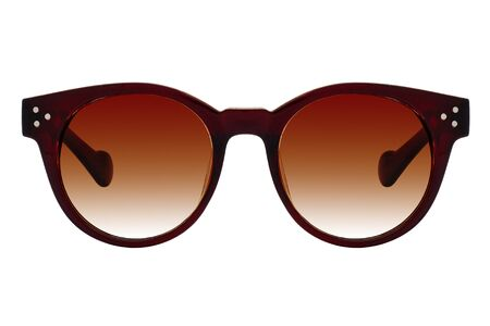 Photo for Brown sunglasses with brown gradient lens isolated on white background - Royalty Free Image