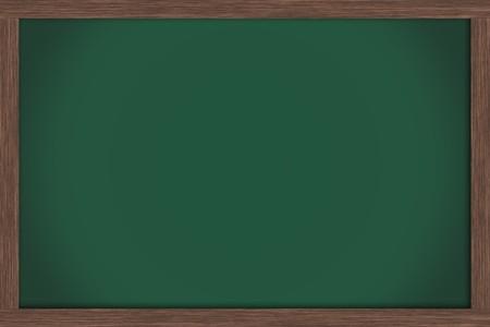 Photo pour An empty green chalkboard , School Days - image libre de droit