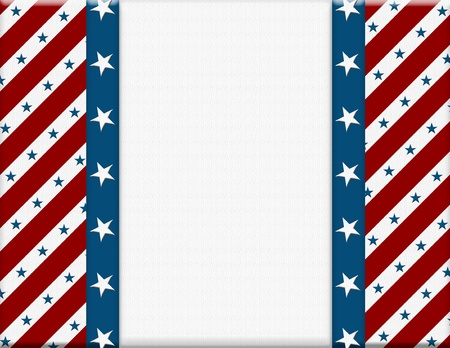 Red and White American celebration frame for your message or invitation with copy-space in the middle