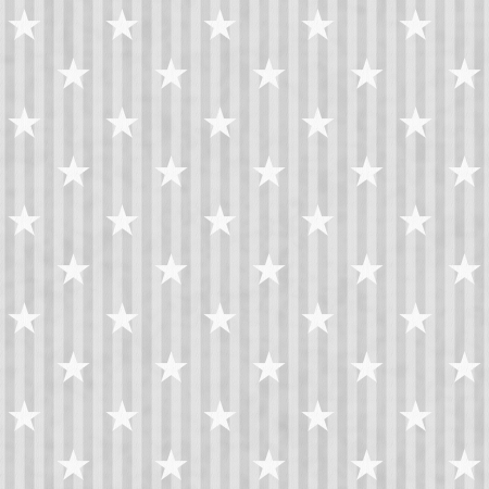 Gray and White Stars and Stripes Fabric Background that is seamless and repeats
