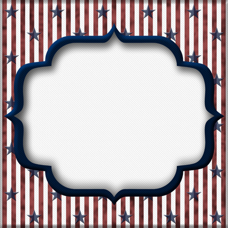 Red and Blue Striped Background with center for copy-space, USA Patriotic Background