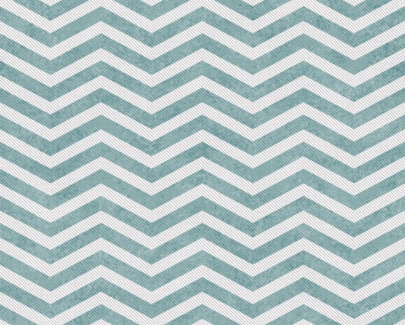 Pale Teal and White Zigzag