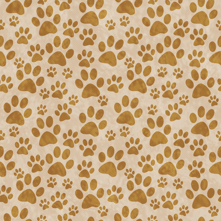 Photo pour Brown Doggy Paw Print Tile Pattern Repeat Background that is seamless and repeats - image libre de droit