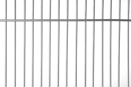 Silver metal bars with white background