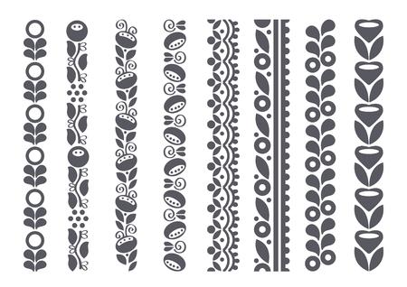 Decorative borders, vector illustration