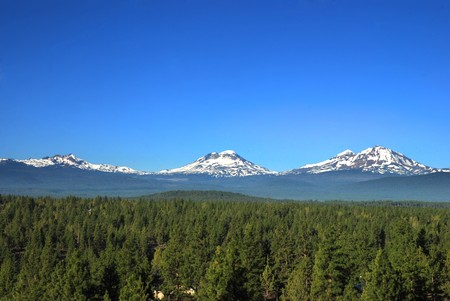 Three Sisters Mountains in Oregon, United States