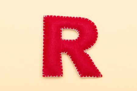 Red felt R
