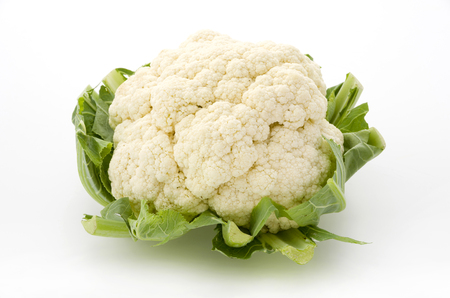 Photo for Fresh cauliflower isolated on white background - Royalty Free Image