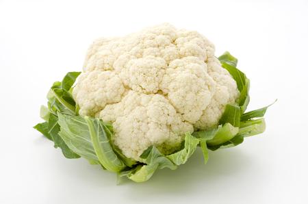 Photo for Fresh cauliflower isolated on white background - Royalty Free Image