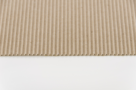 Photo for Brown paper corrugated cardboard - Royalty Free Image